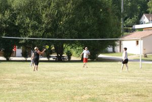 Terrain de badminton