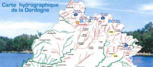 Extrait carte hydrographique de la Dordogne