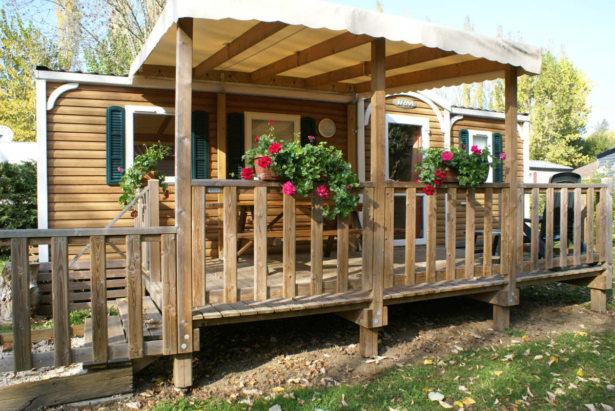 Location de mobil home 3 chambres camping l 39 agrion bleu for Mobil home 3 chambres