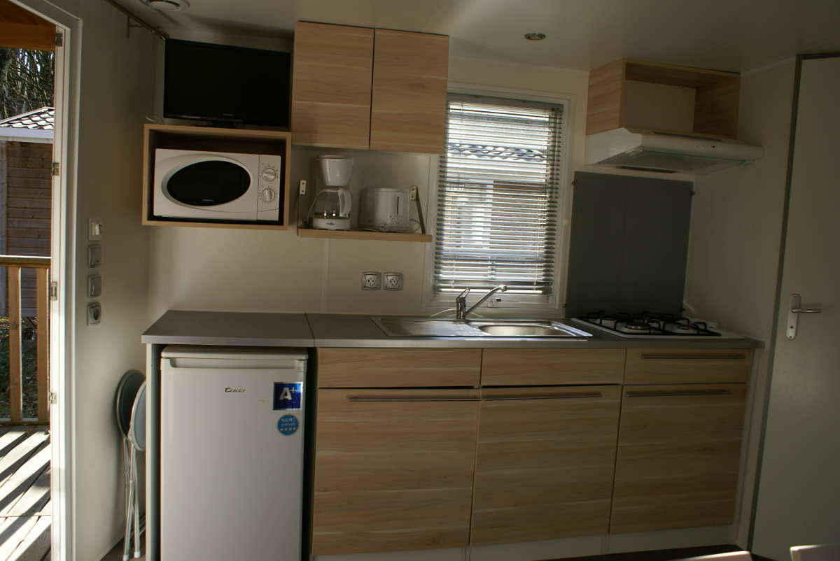 Souvent Mobil-Home comfort rental | The blue agrion camping BE02