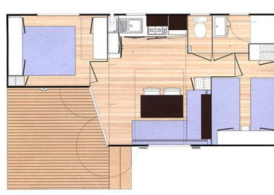 Plan mobil-home confort