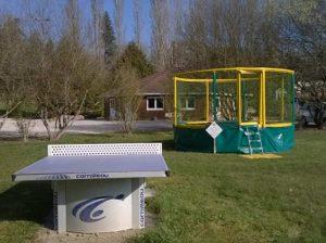 Ping-pong et trampoline